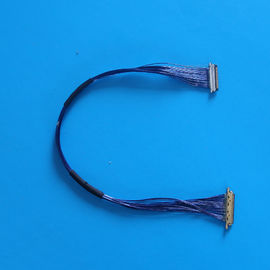 Cina 9.7cm LCD LVDS Blue Micro Coaxial Cable with 1000MΩ Min Insulation 20MΩ Max Contact Resistance Distributor